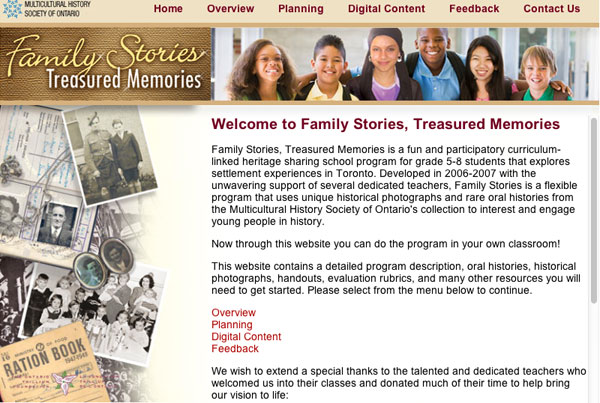 Family Stories – Treasured Memories